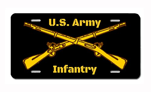 Carpe Diem Designs Military Service Insignia (Infantry) Novelty License Plate by, Made in the U.S.A. - Infantry License Plate