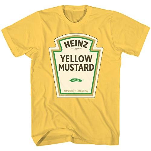Heinz Mustard Bottle Logo Classic Vintage Retro Funny Halloween Costume Men's T-Shirt (Gold, Small)]()