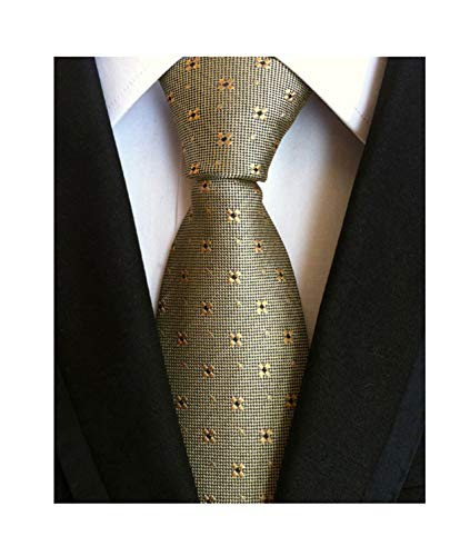 Men Bronze Necktie Vintage Floral Silk Cravat Woven Leisure skinny Designer Ties