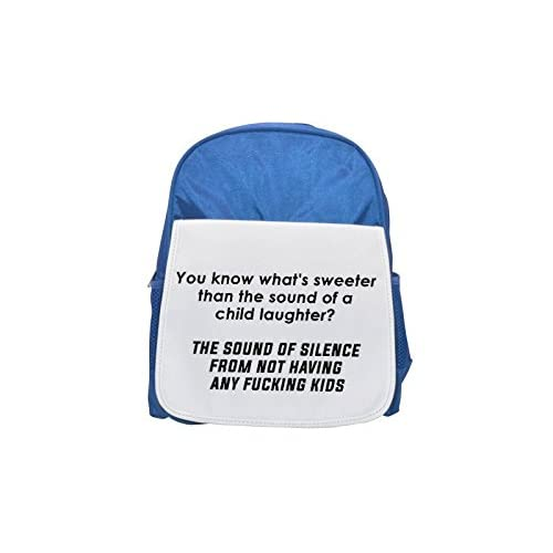 Funny Quote about Silence printed Kid 's blue Backpack, cute Backpacks, cute small Backpacks, cute Black Backpack, Cool Black Backpack, Fashion Backpacks, Large Fashion Backpacks, Black Fashion Backpa