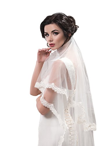 "Bridal Veil Amanda from NYC Bride collection (chapel 72"", white) by NYC Bride"