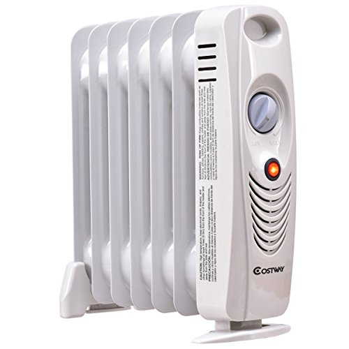 DreamHank 700 W Portable Mini Electric Oil Filled Radiator Heater Home Room Use (Best Radiators For Bathrooms)