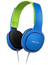 Philips SHK2000BL Kids Headphones, Blue/Green