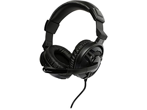 ROSEWILL Stereo Gaming Headset for PC, MAC, Laptop Computer, 3.5mm Stereo Over-Ear Gaming Headphones with Adjustable Mic and Convenient in-Line Sound Control ()