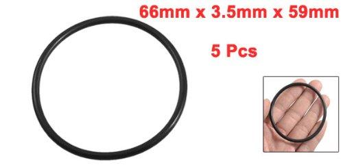 sourcing map 5 Teile Gummi Abdichtung /Ölfilter O-ringe Dichtungen 66mm x 59mm x 3.5mm DE de
