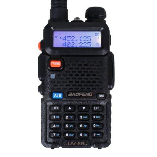 BaoFeng UV-5R 136-174/400-480 MHz Dual-Band Ham Radio (Black), Outdoor Stuffs