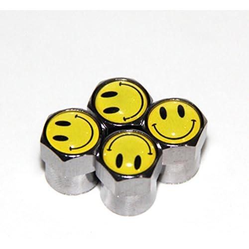 Bouchons de valve Emotions, Smiley, 4pièces, argent Valve, capuchons Wadle Boutique hot sale 2017