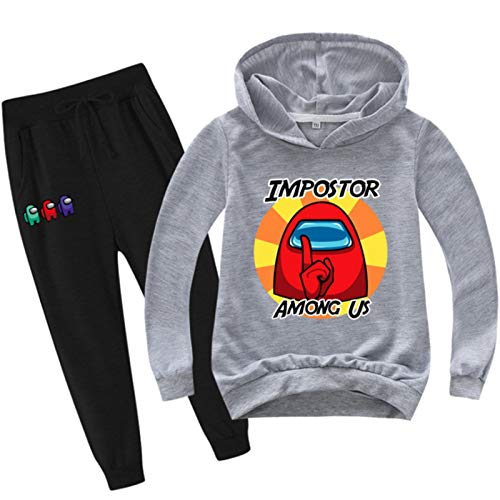 Youth Fashion Pullover Hoodie and Sweatpants Suit for Boys Girls 2 Piece Outfit Sweatshirt Set
