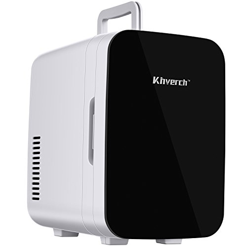 Kinverch Mini Fridge Electric Cooler and Warmer :110v AC / 12V DC Portable Thermoelectric System,for Car/Home /Kichen/Junket/Outdoor for frinds/Parents/Yourself (Black) (6L) by Kinverch