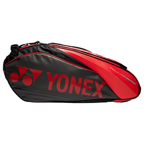 YONEX Pro X6 Racquet Bag, Red, One Size
