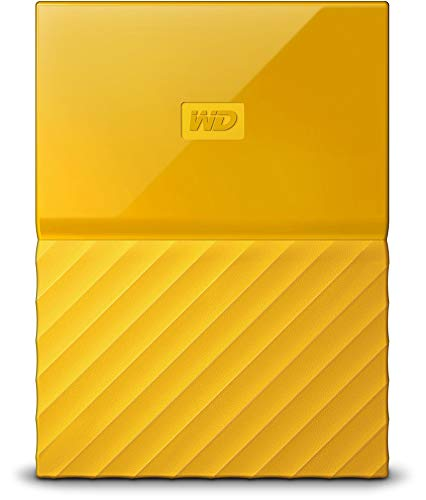 WD My Passport 2 TB Portable Hard Drive and Auto Backup Software for PC, Xbox One and PlayStation 4 - Yellow