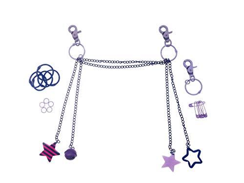 Ita Bag Chain Ita Bag Accessories DIY Accessories Ita Bag Decoration Pins, Cosplay,Comic Con PURPLE