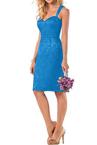 Blau Mini La Kurz Traeger Promkleider Rock mit Marie Ballkleider Navy Knielang Blau Zwei Abendkleider Braut wFfnqT7wr6