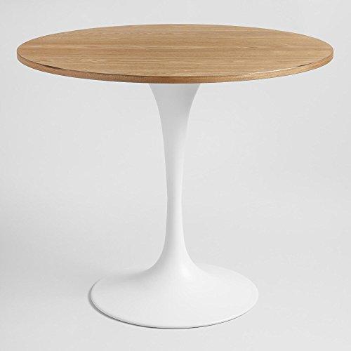 Dining Teak Rectangular Table Set (Mid Century Modern Wood And White Metal Tulip Base Dining Table)