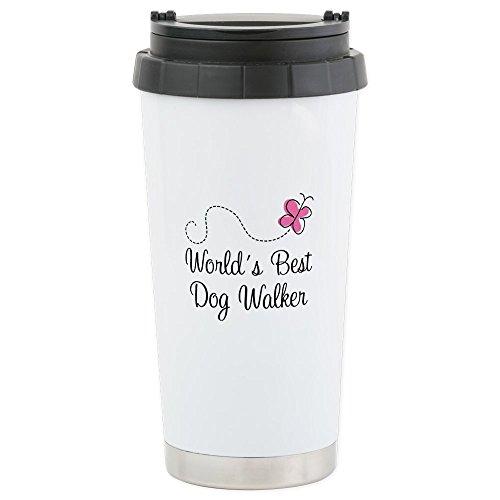 CafePress - Dog Walker (World's Best) Stainless Steel Travel M - Stainless Steel Travel Mug, Insulated 16 oz. Coffee ()