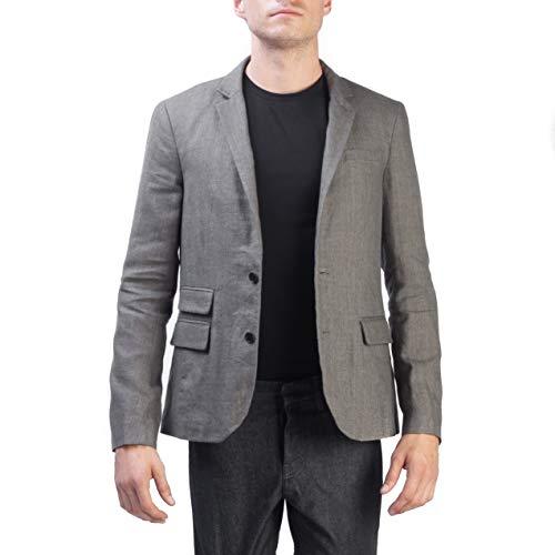 Allsaints Men's Two Button Linen Wool Blend Blazer Grey from AllSaints