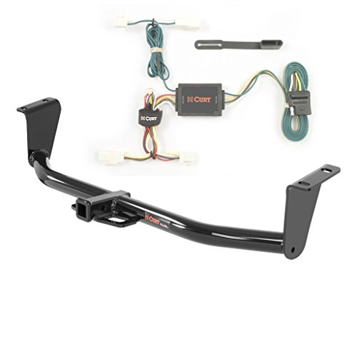 CURT Class 1 Trailer Hitch Bundle with Wiring for 2003-2013 Toyota Corolla - 11265 & 55542 ()