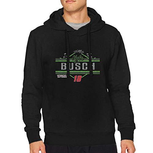 LLBUGS-hoodie Men Black Generic NASCAR Adult #18 Kyle Busch Throw Back Racing Particular Hoodie Sweatshirt