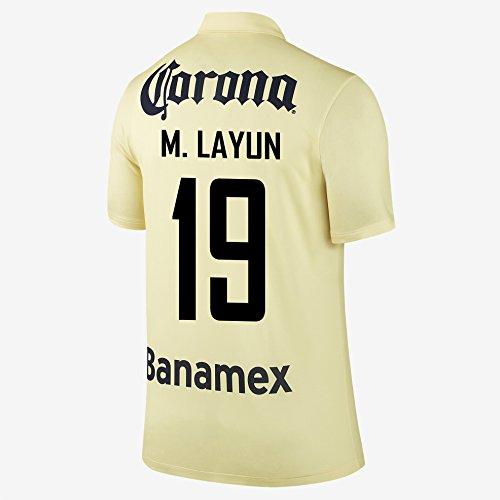 M. LAYUN #19 Club America Home Jersey 2014-15 (M)