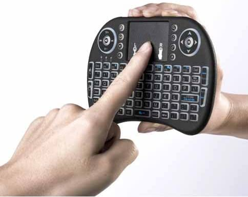 Worlds Most Mini Wireless Keyboard Remote Control The Touchpad DPI Adjustable Functions Better Match The Different Sizes of Screen with Backlit