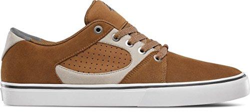 eS Men's Square Three Skate Shoe Brown/tan 11 Medium US
