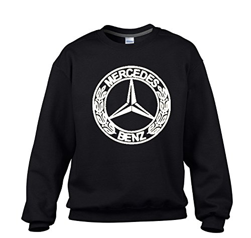 MERCEDES-BENZ White Logo on Black Sweater / Sweatshirt - SIZE - Mail Priority Canada Usps