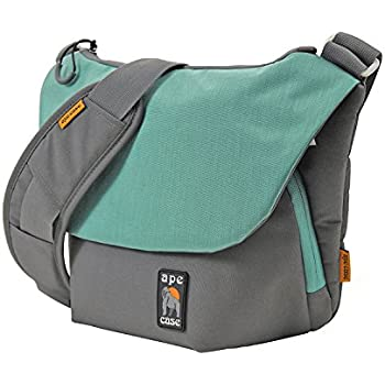 Phone compartment included Ape Case Shoulder strap included for mirrorless camera Camera insert included AC560T Small Green Messenger bag for compact camera and accessories