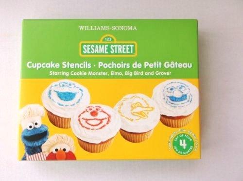 Williams-Sonoma Sesame Street Cupcake Stencils 4 Ct.