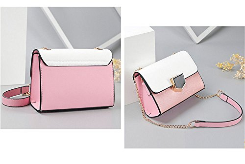 Women'S Chain Bag With Single Shoulder Bag,Pink,200X150X80Mm by SJMMBB (Image #1)