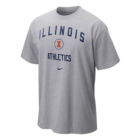 6665a5a9 Amazon.com : NIKE Illinois Fighting Illini Shirt - Gym T Shirt - Men ...