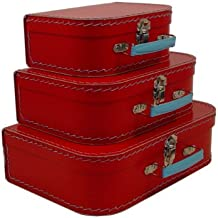 cargo Vintage Travelers Mini Suitcases, Set of 3,Red