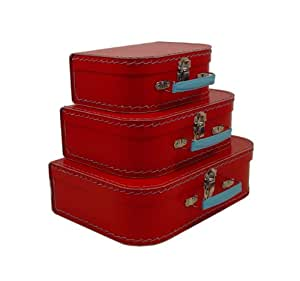 Cargo Cool Euro Suitcases, Red, Set of 3