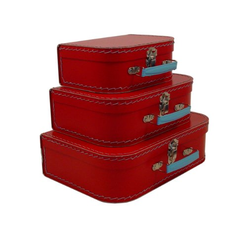 Cargo Cool Euro Suitcases, Red, Set of 3 (Vintage Small Suitcase compare prices)