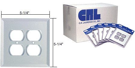 (CRL Double Duplex Plug in 60pc Bulk Packs-Clear Glass)