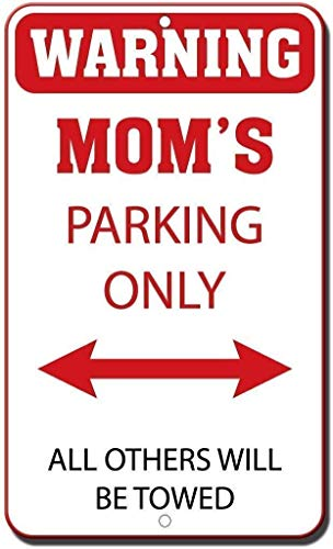 Vintage Tin Sign,16x12,Warning Mom's Parking Only All Others Will Be Towed Room Sign zx221 Safety Warning Business Signs Commercial Metal Sign Metal Aluminum