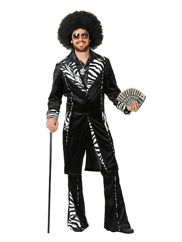 Charades Funny Mens Pimp Daddy Ho Gigolo Halloween Costume L