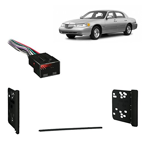 Fits Lincoln Town Car 98-02 Double DIN Stereo Harness Radio Install Dash Kit
