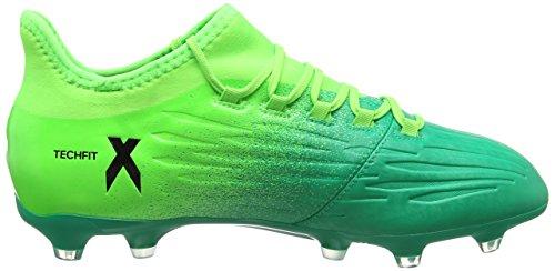 adidas X 16.2 FG, Scarpe per Allenamento Calcio Uomo, Verde (Versol/Negbas/Verbas), 44/45 EU