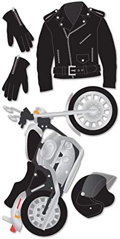 7 Pack Motorcycle Craft Stickers with Harley Davidson Stickers Harley Davidson Craft Supplies Motorcycle Party Decorations Motorcycle Scrapbook Sticker Bundle Motorcycle Party Craft Set