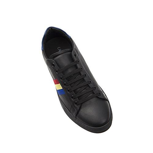 Castelbajac Italy in in Made Pelle Scarpa Sneaker Royal Nero Stringata Uomo Giallo rS8wxrZqH