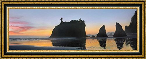 Abby Island and seastacks at sunset, Ruby Beach, Olympic NP, Washington by Tim Fitzharris - 7