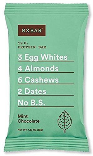 Protein Bar Chocolate Mint - RXBAR Whole Food Protein Bar, Mint Chocolate, 1.83oz Bars, 12 Count