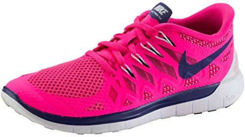 Nike Free 5.0, Damen Laufschuhe hyper pink/royal blue/white