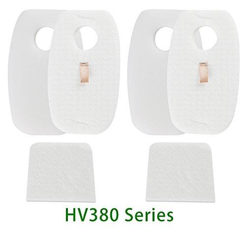 Duo Parts - 2 Pack Replacemnet Filter Set for Shark Rocket DuoClean HV380, HV380W, HV381, HV382, HV383, HV384Q,Part# XFFH380 XPSTFH380