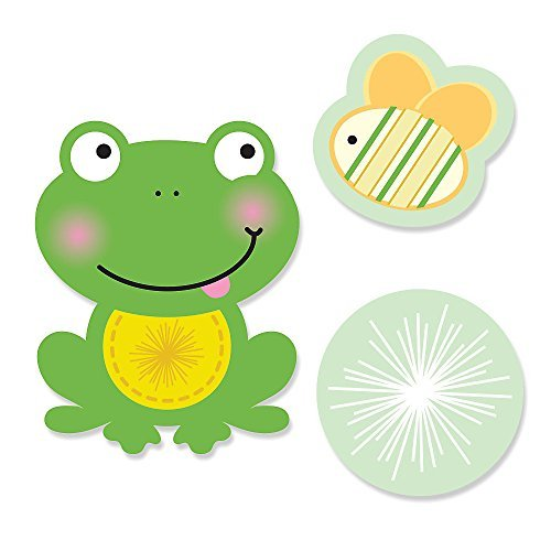 Big Dot of Happiness Froggy Frog - DIY Shaped Baby Shower or Birthday Party Cut-Outs - 24 -