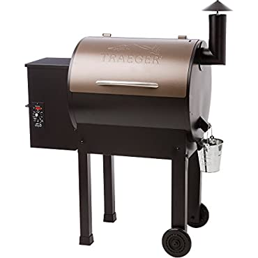 Traeger Lil Tex Elite 22 Wood Pellet Grill and Smoker Grill, Smoke, Bake, Roast, Braise, and BBQ (Bronze)