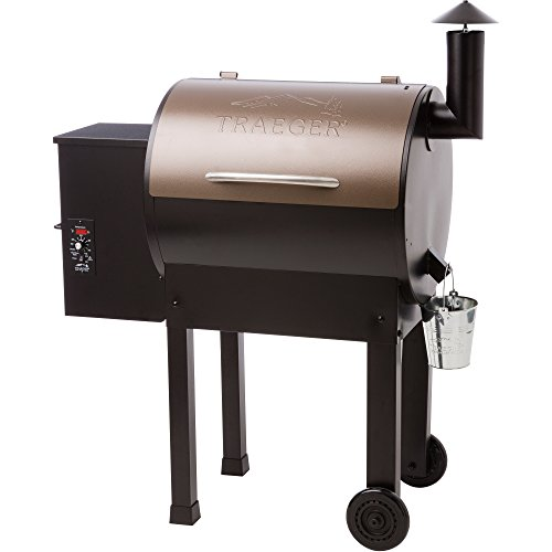 Traeger TFB42LZBC Grills Lil Tex Elite 22 Wood Pellet Grill and Smoker - Grill, Smoke, Bake, Roast, Braise, and BBQ (Bronze) Cook Roast Bbq