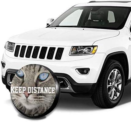 スペア タイヤ カバー タイヤ 収納 保管カバー Keep Distance 車用 17 Inch