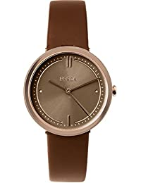 Women's 'Agnes' 1733d Rose Gold and Brown Leather Strap Watch, 34MM