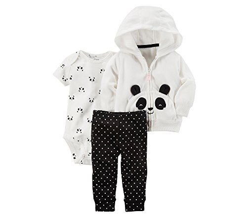 Panda Outfits For Babies (Carter's Baby Girls' 3 Piece Panda Cardigan Little Jacket Set 18 Months)